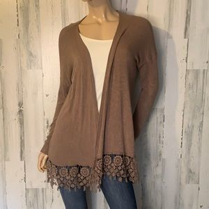 Bobeau Brown Cardigan